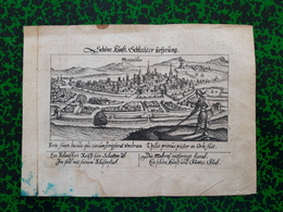Vue De Montpellier 1626 Daniel Meisner - Estampas & Grabados