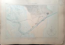 17 LA PERROTINE PLAN DU PORT ET DE LA VILLE  EN 1884 DE L'ATLAS DES PORTS DE FRANCE 49 X 67 Cm - Cartes Marines
