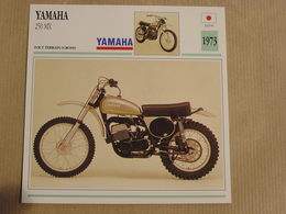 YAMAHA 250 MX Cross Japon Japan 1973 Moto Fiche Descriptive Motocyclette Motos Motorcycle Motocyclette - Zonder Classificatie