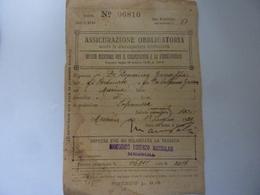 """Tessera """"ASSICURAZIONE OBBLIGATORIA CONTRO LA DISOCCUPAZIONE INVOLONTARIA - MANICOMIO LORENZO MANDALARI MESSINA"""" 1922 - Documenti Storici"""