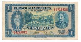 Colombia 1 Peso 1953, XF. - Kolumbien