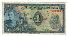 Colombia 1 Peso 1946, VF/XF. - Colombia