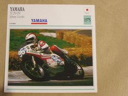 YAMAHA TZ 250-350 Johnny Cecotto Japon Japan 1975 Moto Fiche Descriptive Motocyclette Motos Motorcycle Motocyclette - Fiches Illustrées