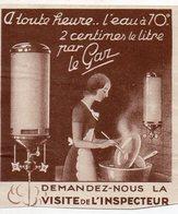 Vignette L'eau à 70° 2 Centimes PAR LE GAZ (PPP18000B) - Publicités