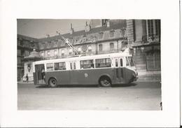 Photo - Thème  Transport - Tramway - Trolleybus - Lieu à Identifier - Dijon ?? - Guerre, Militaire