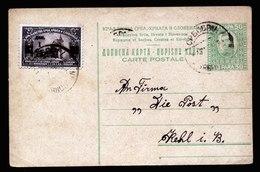 A6069) Jugoslawien Yugoslavia Karte Srbobran 1924 N. Kehl / Germany - 1919-1929 Königreich Der Serben, Kroaten & Slowenen