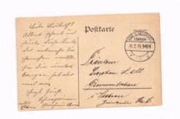 Postkarte.Expédié En Feldpost à Crimmitschau (Sachsen) - Germania