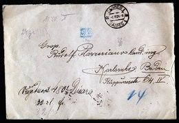 A6070) Jugoslawien Yugoslavia Wertbrief Zagreb 06.03.24 N. Karlsruhe / Germany - 1919-1929 Königreich Der Serben, Kroaten & Slowenen