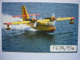 Avion / Airplane / SECURITE CIVILE / Canadair / Carte QSL - 1946-....: Ere Moderne