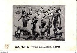 89.  Yonne :  Sens  : Louis Gaggini : 20 Rue Du Puits De La Chaine . - Sens