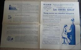 Lot Documents Des Cours Sinat - Piano Harmonie Violon...ill André Hellé - Other Products