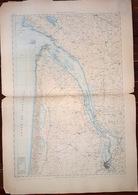 33 GRANDE CARTE DE GIRONDE ROYAN A RICHARD PLAN DE LA GIRONDE   EN 1886 DE L'ATLAS DES PORTS DE FRANCE 98  X 67 Cm - Cartes Marines