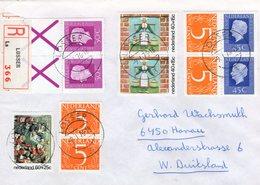1976 Aangetekende Brief LOSSER Met O.a. Zegels Uit Pzb En Kinderzegels - 1949-1980 (Juliana)