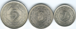 Kazakhstan - 1993 - 1, 3 & 5 Tenge (KMs 6, 8 & 9) - Kazachstan