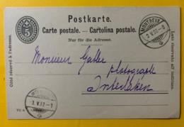 8234 -  Entier Postal  Montreux 02.05.1902  Pour Interlaken - Entiers Postaux