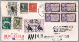 USA, Angola 1952, Washington-Nova Lisboa, Retour - Angola