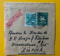 8237 -  Entier Postal  Bande Journal La Dépêche De L'Air Lausanne 13.01.1946 - Entiers Postaux