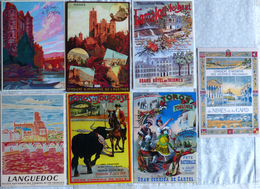 Lot De 7 CPM Publicitaires Du Languedoc: Albi, Toulouse, Rodez, Espalion, Lamalou Le Haut (voir Scan) - Non Classés
