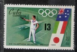 Cuba 1968 - Giochi Olimpici Mexico City Olympic Games Tiro Pistola Pistol Shooting MNH ** - Tiro (armi)