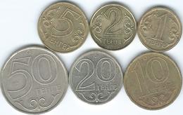Kazakhstan - 1 (2000) 2 (2006) 5 (2000) 10 (2000) 20 (2000) & 50 Tenge (2000) - Kazachstan