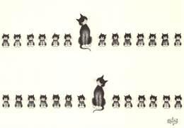 Albert DUBOUT - Editions Jean Dubout N'D 32 - CHAT - Portée - Dubout