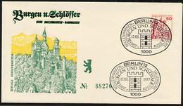 GERMANIA BERLINO - FDC 1977  -  BURGEN Und SCHLOSS  -  SCHLOSS MESPELBRUNN  - SCHLOSS NEUSCHWANSTEIN - [5] Berlin