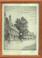 Lithogravure « TEWKESBURY De FERDINAND GIELE (1867-1929) Numérotée 19/50 – Signature De L'artiste - Vieux Papiers