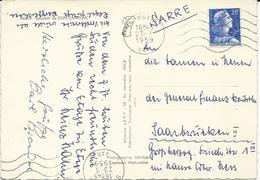 CARTE POSTALE 1959 POUR L'ALLEMAGNE AVEC  TIMBRE A 20 FR MARIANNE DE MULLER - Postmark Collection (Covers)