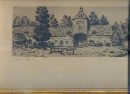 (LEUVEN) Lithogravure « EEGENHOVEN» De FERDINAND GIELE (1867-1929) Numérotée 58/100 – Signature De L'artiste - Vieux Papiers