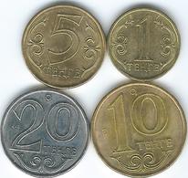 Kazakhstan - 2013 - 1, 5, 10 & 20 Tenge - Non-magnetic - Kazakhstan