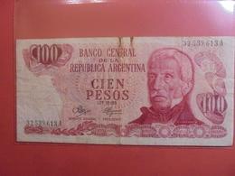 ARGENTINE 100 PESOS 1974-76 CIRCULER - Argentine
