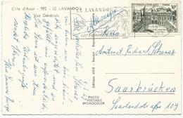 CARTE POSTALE 1959 POUR L'ALLEMAGNE AVEC  TIMBRE A 30 FR PALAIS DE L'ELYSEE - Postmark Collection (Covers)