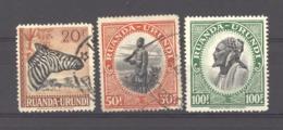 Ruanda Urundi  :  Yv  145-47  (o) - Ruanda-Urundi