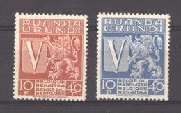 Ruanda Urundi  :  Yv  148-49  ** - 1924-44: Nuovi