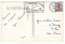 Carte Postale Aiguille Du Midi Alpes Chamonix Mont Blanc 1964 Haute Savoie Ski Alpinisme - France