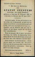Souvenir Mortuaire CEUSTERS August (1881-1945) Geboren Te GEEL Overleden Te MEENEN - Images Religieuses