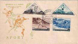 SAN MARINO 1953 FDC - FDC