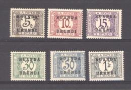 Ruanda Urundi  -  Taxes  :  Yv  9-14  * - Ruanda-Urundi