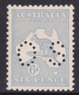 Australia 1915 Kangaroo 6d Dull Grey-Blue 3rd Wmk Die II Perf OS MVLH - Mint Stamps