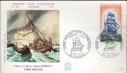 FDC 291 - FRANCE N° 1717 Trois Mâts Terre Neuve Sur FDC 1972 - 1970-1979