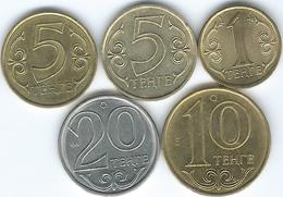 Kazakhstan - 2016 - 1, 5 X 2 (Magnetic & Non Magnetic), 10 & 20 Tenge - Magnetic Coins (slightly Modified Coat Of Arms) - Kazakhstan