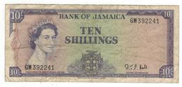 Jamaica 10 Shillings L.1960. F/VF. - Jamaica