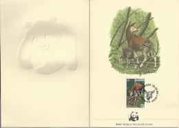 PZ.- WWF. WORLD WILDLIFE FUND. ZAIRE. PREMIER JOUR KINSHASA 15-10-84. OKAPI. OKAPIA JOHNSTONI. A. BUZIN. Nr 3/1985. - W.W.F.