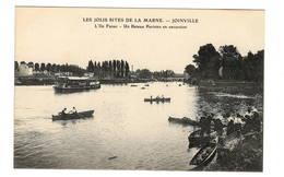 94 VAL DE MARNE - JOINVILLE LE PONT L'Ile Fanac, Un Bateau Parisien En Excursion (voir Descriptif) - Joinville Le Pont