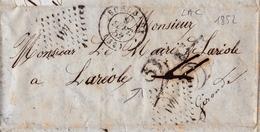 Lettre Jean Lafont Tailleur Rue Saint François Bordeaux 1852 Monsieur Le Maire De La Réole Gironde - Marcophilie (Lettres)