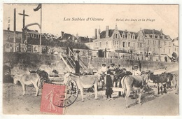85 - LES SABLES D'OLONNE - Relais Des ânes Et La Plage - VP 1 - 1906 - Sables D'Olonne