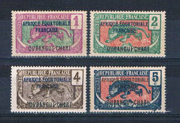Ubangi-Shari 41-44 MNH Leopard Overprint 1924 CV 1.40 (U0366) - Unclassified