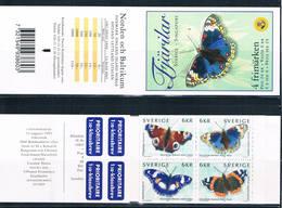 Sweden 2356ad MNH Booklet Butterflies 1999 CV 10.00 (S1058)+ - Sweden