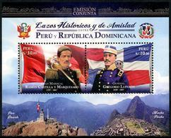 Peru (2018)  - Block -  /  Joint With Dominicana - History - Flags - Pico Duarte - Machu Pichu - Gezamelijke Uitgaven