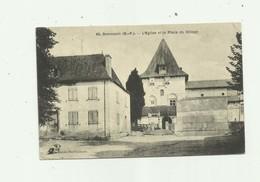 64 - DOMEZAIN - Eglise Et Place Du Village Bon état - France